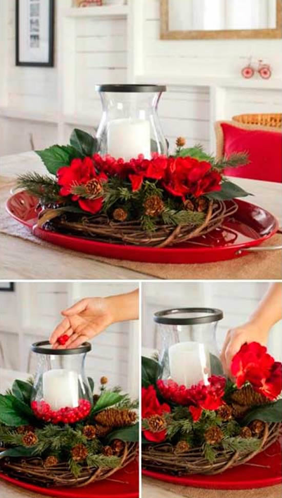 40 Exemplos para Decoração de Mesa de Natal Barata
