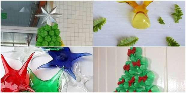 Decoração de Natal com Garrafas PET