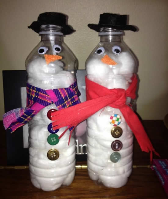 Decoração de Natal com garrafa PET