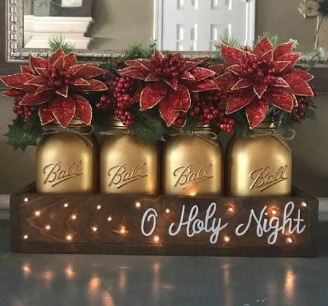 Dicas com potes para decorar a casa no Natal