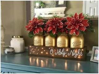 Decoração de Natal com potes