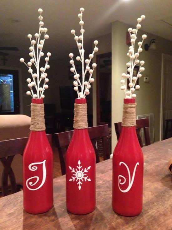 Decoração de Natal com Material Reciclado