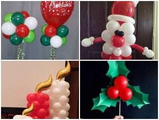 Decoração de Natal com Balões