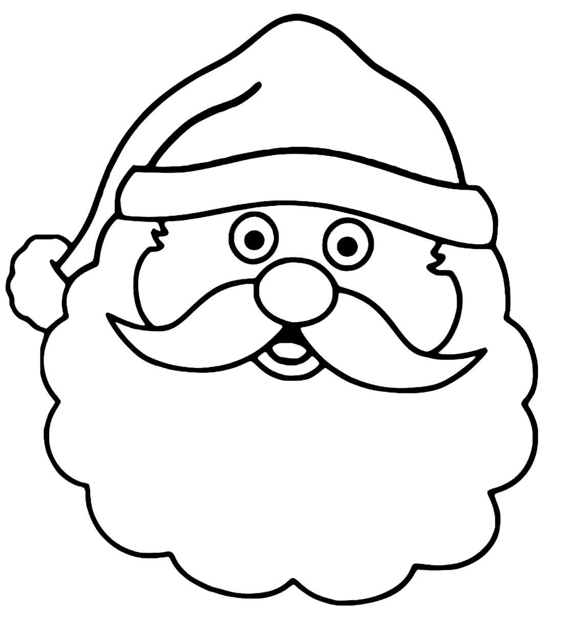 Imagem de Papai Noel para pintar
