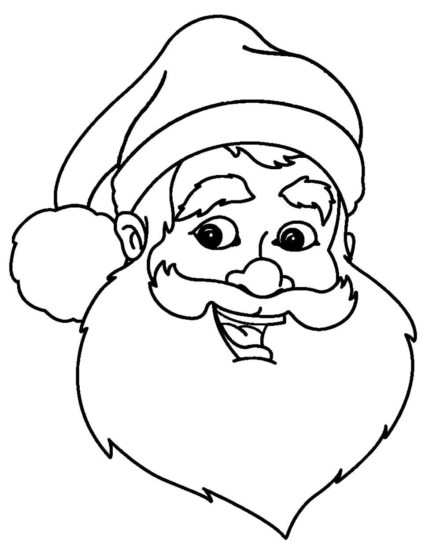Imagem de Papai Noel para colorir