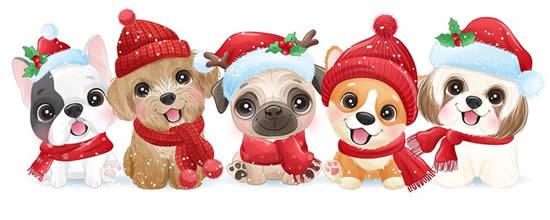 Desenho colorido de Natal
