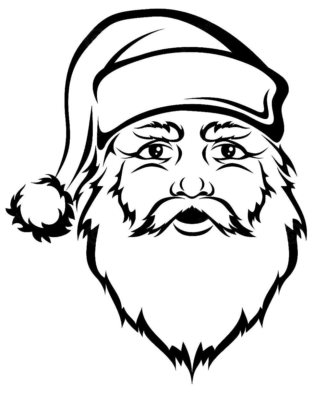 Desenho de Papai Noel para colorir e pintar