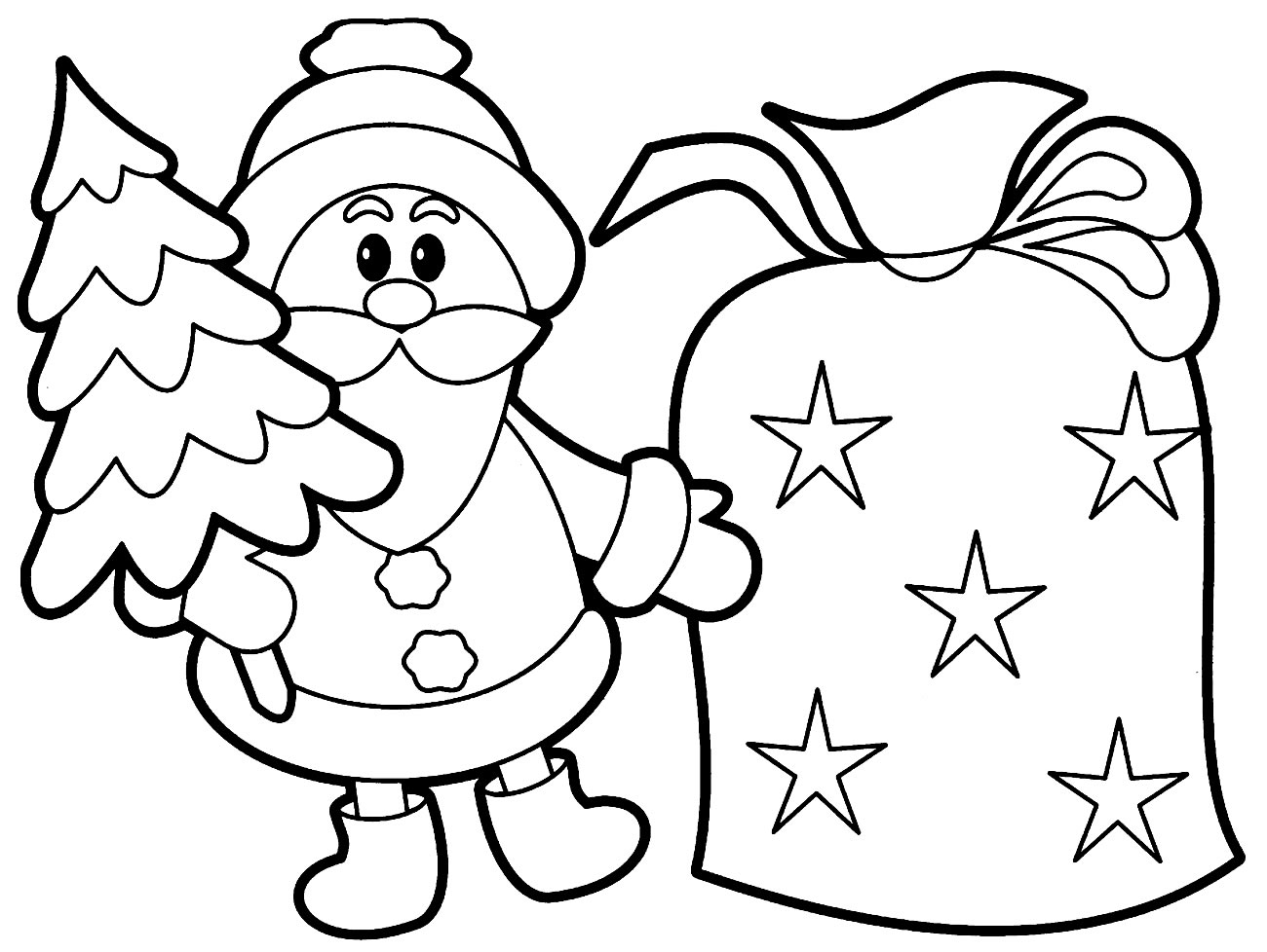 Desenho do Papai Noel para colorir