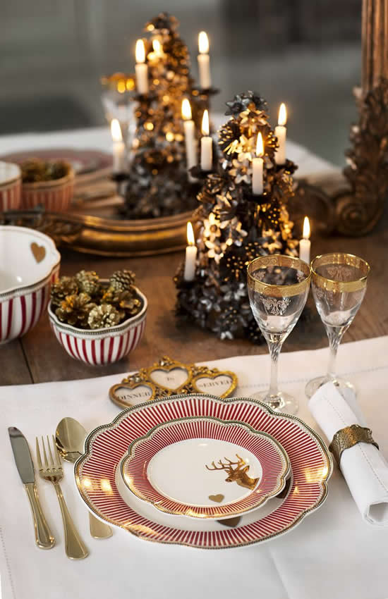 Enfeite de mesa para o Natal
