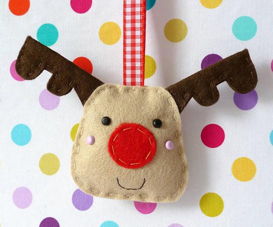Enfeites Lindos em Feltro para Natal