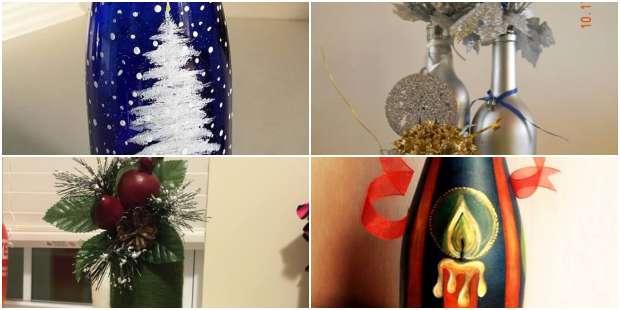Garrafas Lindas e Decoradas para o Natal