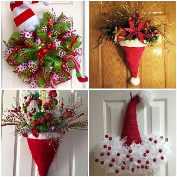 Gorros de Papai Noel para decorar a porta - Pop Lembrancinhas 5dd2d158200