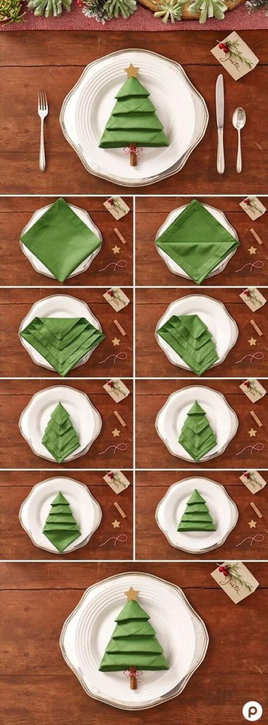 20 Exemplos Lindos de Guardanapos de Natal