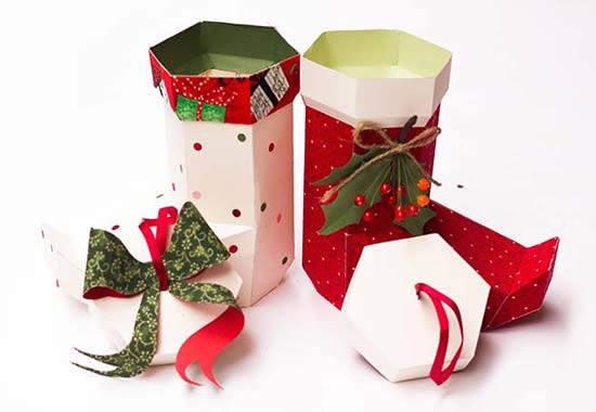 Bota de Papai Noel de Papel com Moldes