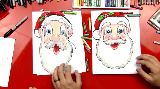 Desenhos De Papai Noel Para Imprimir E Colorir Pop