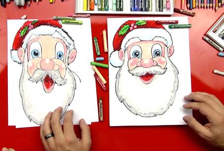 Desenhos de Papai Noel para Imprimir e Colorir