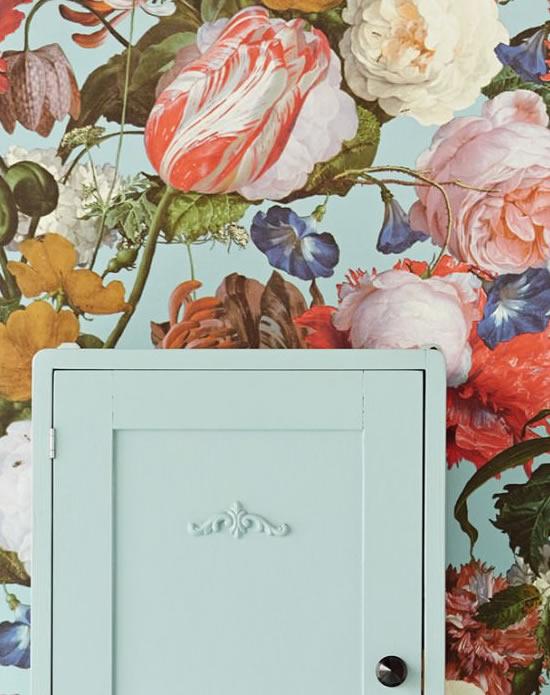 Papel de Parede Floral Vintage