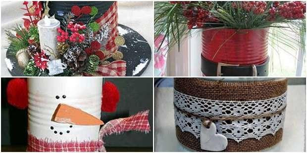 Enfeites com Reciclagem de Latas para Natal
