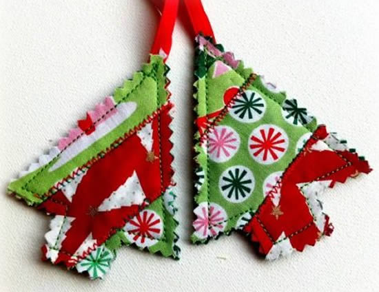 Artesanatos com tecido para Natal