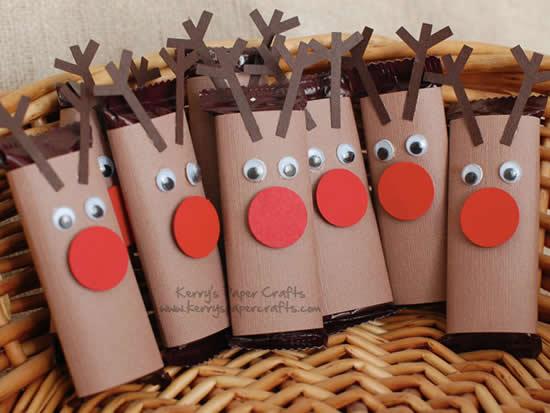 Ideias com Rolos de Papel Higiênico para Natal