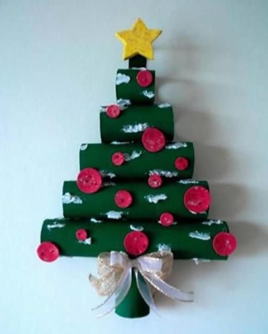Árvores de Natal com Rolos de Papelão