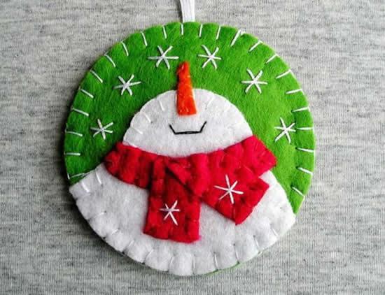 Bolas de Natal de Feltro