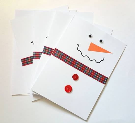 Cartão de Natal com papel