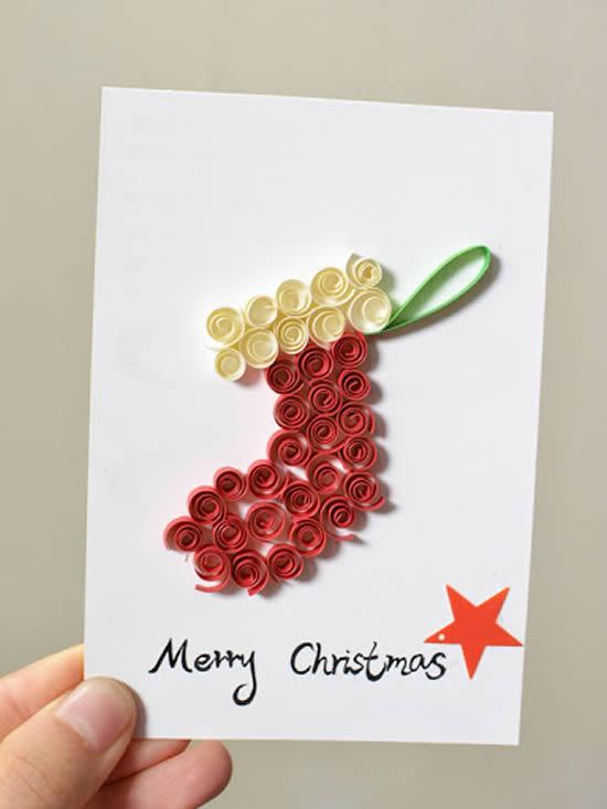 Cartão de Natal com filigrana