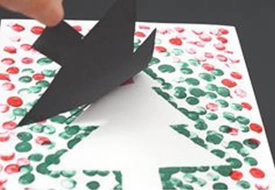 Cartão de Natal para fazer com crianças
