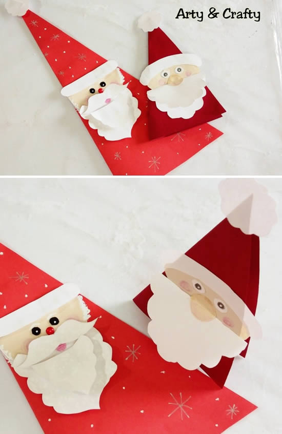 Lindo cartão com Papai Noel