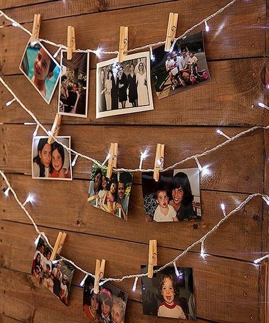 Decoração com Fotos para Natal