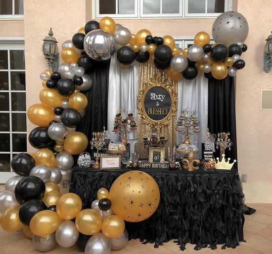Decoração de Ano Novo para mesa