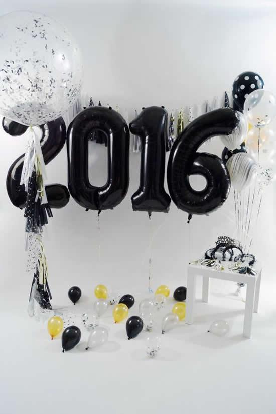 Decoração de Ano Novo com Balões