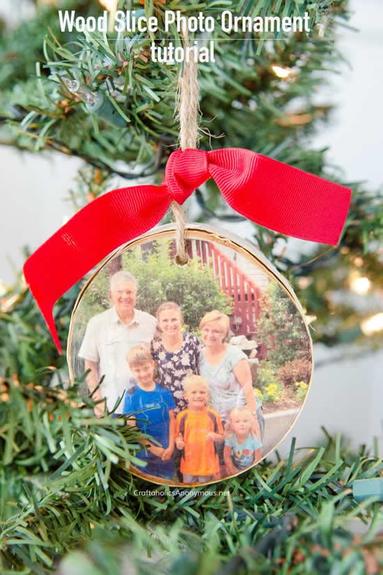 Enfeites de Natal com fotos