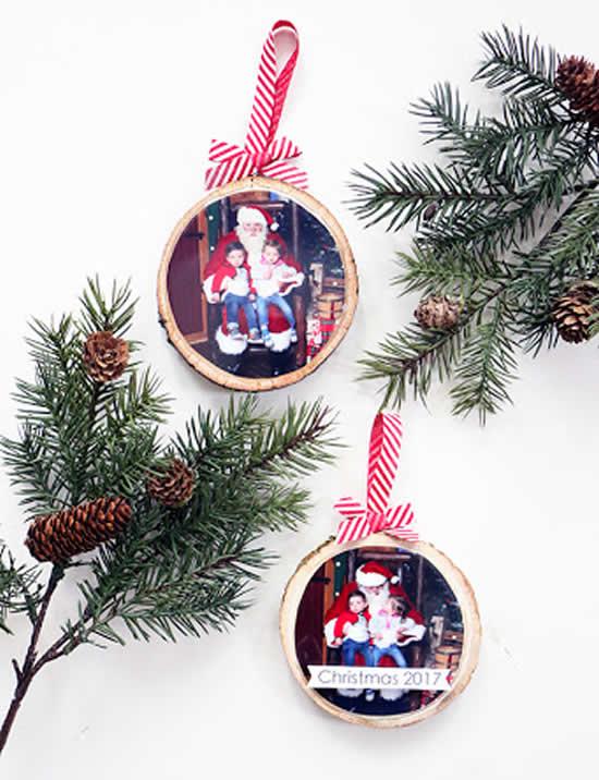 Enfeite de Natal com fotos
