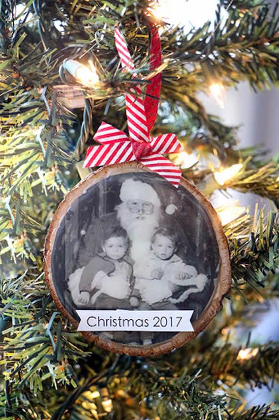 Enfeite de Natal com foto