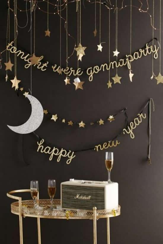 Decoração para Réveillon e Ano Novo