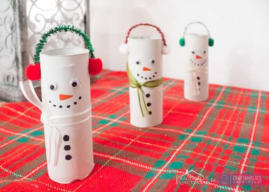 Decoração com reciclagem para o Natal