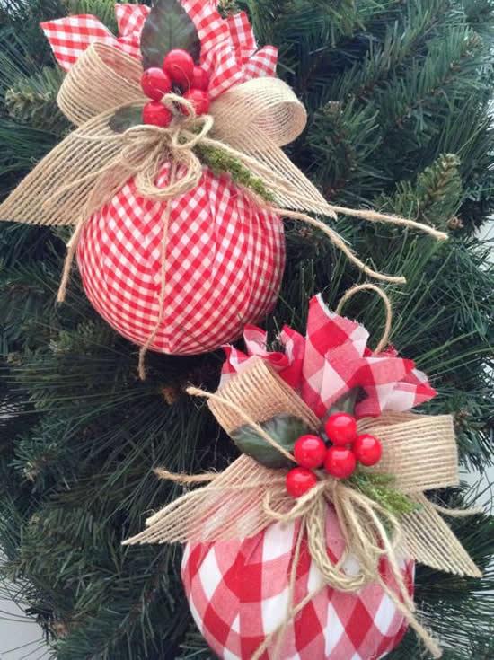 Enfeites com Tecido Fáceis para Natal