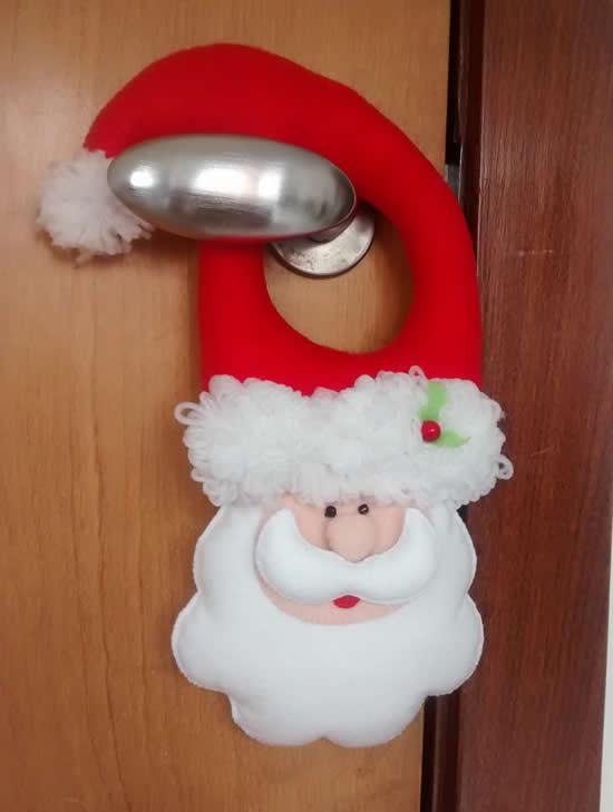 Papai Noel com tecido feltro