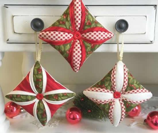 Decoração com tecido para o Natal