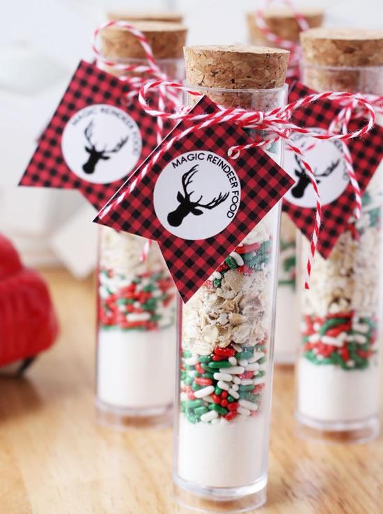 Lembrancinha de Natal com tubo de ensaio