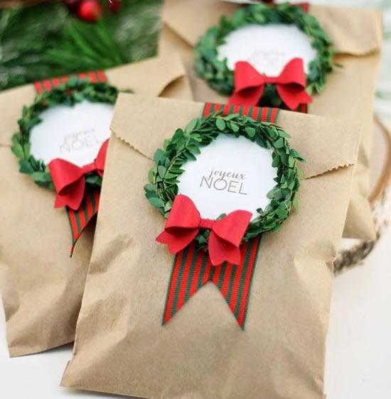 Sacolinha de papel para Natal