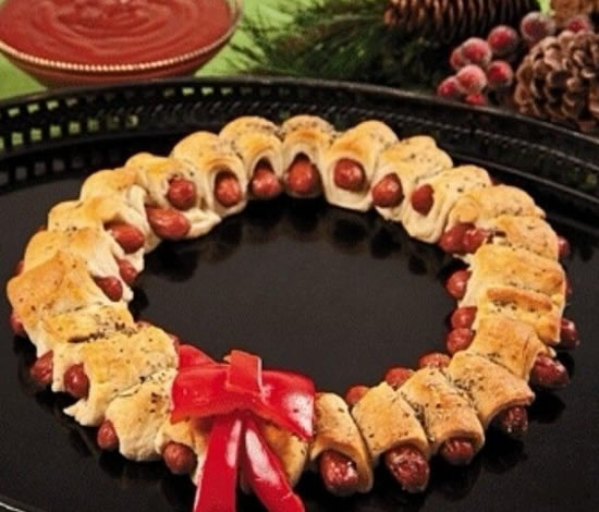 Prato salgado criativo para o Natal
