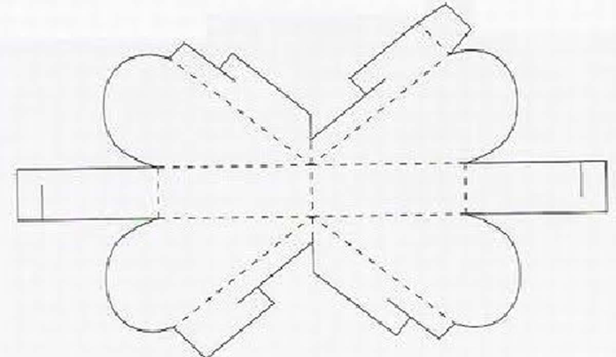 Caixinha de Papel com Molde para Lembrancinha