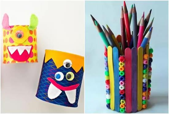 Artesanato com latas para crianças