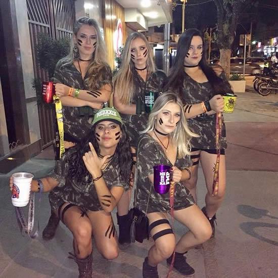 Fantasia de Exército para Carnaval