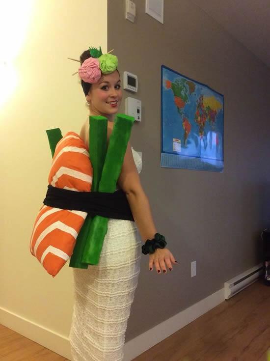Fantasia de Sushi para Carnaval