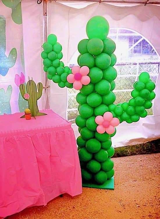 Ideias para Festa Cactos e Suculentas