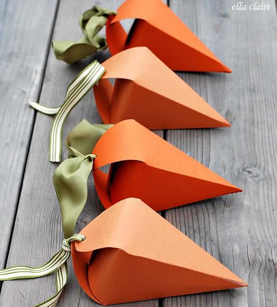 Lembrancinha Cenoura para Páscoa com Moldes
